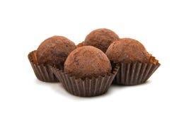 Brown czekoladowa trufla Zdjęcia Royalty Free