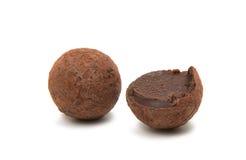 Brown czekoladowa trufla Fotografia Royalty Free