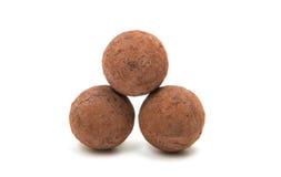 Brown czekoladowa trufla Zdjęcie Royalty Free