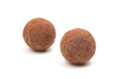 Brown czekoladowa trufla Obrazy Royalty Free