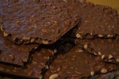 Brown czekolady tło Zdjęcia Royalty Free