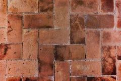 Brown czerwone cegły podłogowe Fotografia Royalty Free