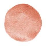 Brown czerwonego płomienia akwareli szkarłatny okrąg Watercolour plama na białym tle Fotografia Royalty Free