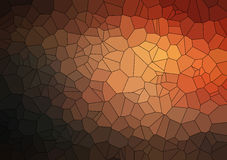 Brown 2D geometric abstract background Royalty Free Stock Photography