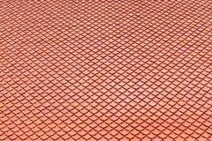 Brown dachówkowego dachu ceramiczna tekstura dla tła Fotografia Stock