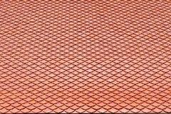 Brown dachówkowego dachu ceramiczna tekstura dla tła Fotografia Royalty Free