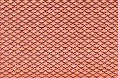 Brown dachówkowego dachu ceramiczna tekstura dla tła Obraz Stock