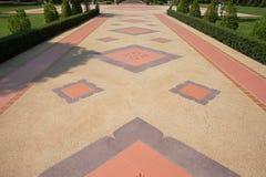 Brown dachówkowej podłoga wzór zdjęcie stock