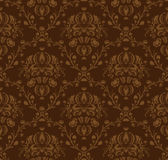 Brown damask pattern Stock Photos
