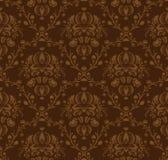 Brown damask pattern Stock Photos