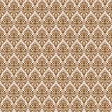 Brown damask seamless texture Stock Photography