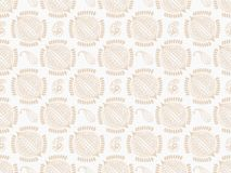 Brown damask seamless wallpaper Stock Image