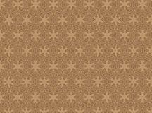 Brown damask seamless wallpaper Vector Illustration