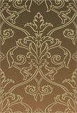 Brown Damask style wallpaper Stock Image