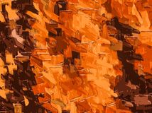 Brown and dark brown drawing and painting abstract Stock Photography