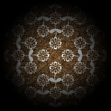Brown de luxe floral Photo libre de droits