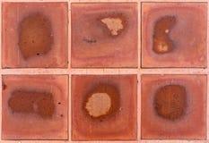 Brown deckt Muster mit Ziegeln Lizenzfreies Stockfoto