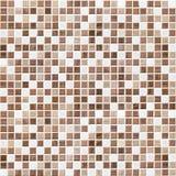 Brown deckte Badezimmer-, Küchen- oder Toilettenfliesenwandhintergrund mit Ziegeln Lizenzfreie Stockfotos
