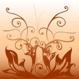 Brown deco stock illustration