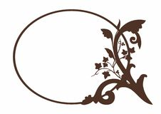 Brown decoration for label. Vector illustration of a decorated insert, EPS 8 file Stock Illustration
