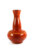Brown decorative clay vase Royalty Free Stock Photos