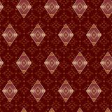 Brown decorative seamless pattern with rhombuses Stock Photos