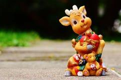 Brown Deer Figurine at Daytime Royalty Free Stock Photos