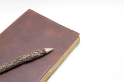 brown den gammala dagboken arkivfoto