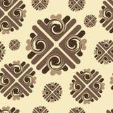 Brown deseniowa bezszwowa tekstura Fotografia Stock