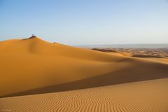 Brown Desert Sand during Daytime Royalty Free Stock Images