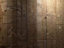 Brown deski ściany tekstury drewniany tło Obrazy Royalty Free