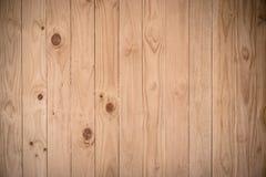 Brown deski drewna ściany tło Obrazy Royalty Free