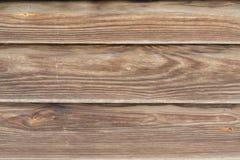 Brown deski drewniana ściana Obraz Stock