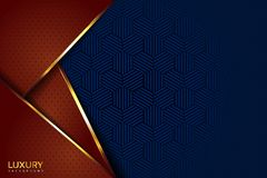 Brown di lusso e fondo elegante d'annata blu illustrazione vettoriale