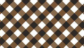 Brown diagonal gingham pattern.Texture from rhombus for - plaid. Tablecloths, clothes, shirts, dresses, paper, bedding, blankets, quilts and other textile vector illustration
