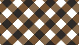 Brown diagonal gingham pattern.Texture from rhombus for - plaid. Tablecloths, clothes, shirts, dresses, paper, bedding, blankets, quilts and other textile royalty free illustration