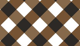 Brown diagonal gingham pattern.Texture from rhombus for - plaid. Tablecloths, clothes, shirts, dresses, paper, bedding, blankets, quilts and other textile stock illustration