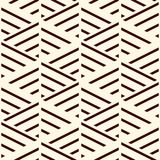 Brown diagonal lines on white background. Seamless pattern with slanted strokes. Hash stroke motif. Vector art. Brown diagonal lines on white background Stock Images
