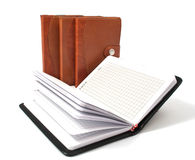 Brown diaries Royalty Free Stock Photography