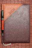 Brown diary Royalty Free Stock Photos