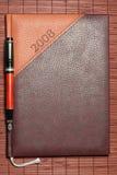 Brown diary Royalty Free Stock Photos