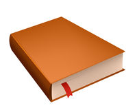 Brown diary book with red bookmark Royalty Free Stock Images