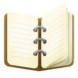 Brown diary stock image