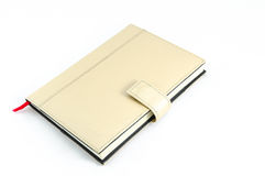 Brown diary on isolated background Royalty Free Stock Photography