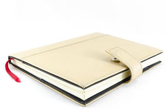 Brown diary on isolated background Stock Photo