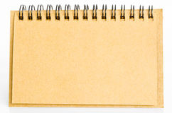 Brown diary made from recycle paper. Royalty Free Stock Photos