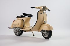 Brown diecast scooter Royalty Free Stock Photo
