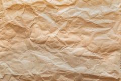 Brown Disastrously papieru tekstura folująca rama Zdjęcia Stock