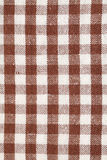 Brown dish towel pattern Stock Image