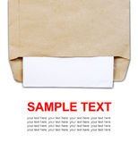 Brown document envelope with paper Royalty Free Stock Images